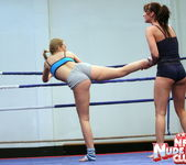 Bailee & Colette W. - Wrestling Girls - Nude Fight Club 12