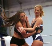 Lisa Sparkle & Linda Ray - Wrestling Girls - Nude Fight Club 5