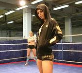 Blue Angel & Sabrinka - Lesbian Wrestling - Nude Fight Club 2