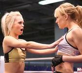 Blue Angel & Sabrinka - Lesbian Wrestling - Nude Fight Club 5