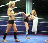 Blue Angel & Sabrinka - Lesbian Wrestling - Nude Fight Club 6