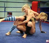 Blue Angel & Sabrinka - Lesbian Wrestling - Nude Fight Club 7