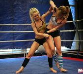 Blue Angel & Sabrinka - Lesbian Wrestling - Nude Fight Club 8