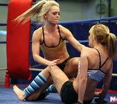 Blue Angel & Sabrinka - Lesbian Wrestling - Nude Fight Club 9