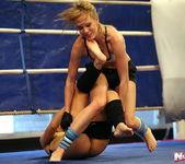 Blue Angel & Sabrinka - Lesbian Wrestling - Nude Fight Club 11