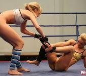 Blue Angel & Sabrinka - Lesbian Wrestling - Nude Fight Club 13