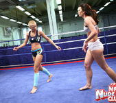 Betty Saint & Sinead - Lesbian Wrestling - Nude Fight Club 9