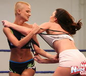Betty Saint & Sinead - Lesbian Wrestling - Nude Fight Club 15
