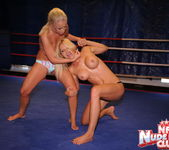 Jessica Moore & Wivien - Girl on Girl - Nude Fight Club 7