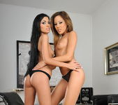 Lesbian Action with Anita Pearl and Pure Angel 5