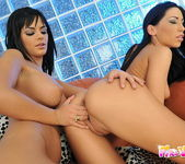 Horny Lesbians Mya Diamond and Black Angelika 6