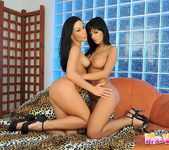 Horny Lesbians Mya Diamond and Black Angelika 20