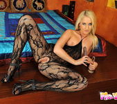 Blond Cat Playing with her toys 19