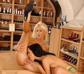 Dorina & Angelina Crow Toying Lesbians 12