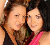 Lesbian Action with Caroline Cage and Lora Black 2