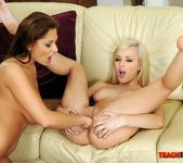 Bianca Golden & Alison Star Girl on Girl Fisting 14