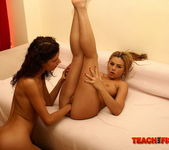 Leanna Sweet & Serenity R. Girl on Girl Fisting 13