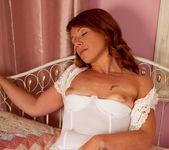 Kay C - White Sheer Stokings 13