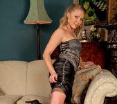 Abi Toyne - Leather Skirt And Heels 4
