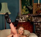 Abi Toyne - Leather Skirt And Heels 9
