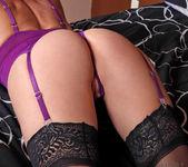 Jenny Mason - Purple Lingerie 9