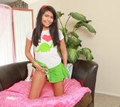Allison - teen getting naked and playing 3