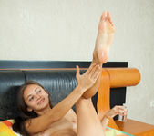 Sima - tiny brunette with a nice oiled pussy 20