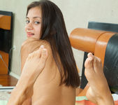 Sima - tiny brunette with a nice oiled pussy 23