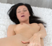 Arian spreading and fingering her pussy 17