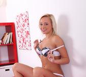 Naomi Nevena - teen blonde vibrates her pussy 9