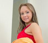 Aleksa taking off her panties - Nubiles 5