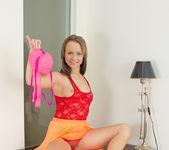 Aleksa taking off her panties - Nubiles 7