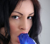 Alice Lee - blue dildo is her toy of choice 13