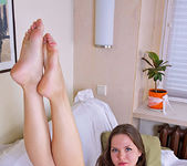 Alyona - taking off her nightgown 15