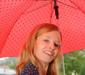 Angel Hott - red umbrella and naked babe 7