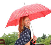 Angel Hott - red umbrella and naked babe 8
