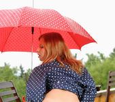 Angel Hott - red umbrella and naked babe 15