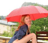 Angel Hott - red umbrella and naked babe 17