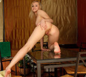 Aglaya - blonde teen naked on the table 17