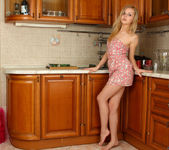 Aglaya spreading in the kitchen - Nubiles 3