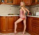 Aglaya spreading in the kitchen - Nubiles 5