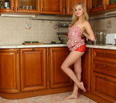 Aglaya spreading in the kitchen - Nubiles 6