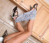 Aj Estrada getting naked in the kitchen 7
