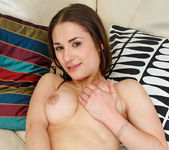 Adalyn stroking her tits and pussy 23