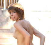 Addie - showing her tan-lines outdoors 22