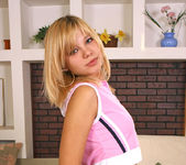 Ametista - tiny blonde teen showing her naked body 2