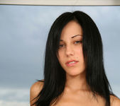 Amalie - sexy brunette naked on the balcony 5