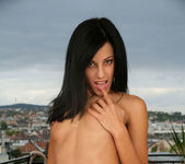 Amalie - sexy brunette naked on the balcony 24