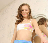 Aimee - thin teen getting naked 6