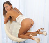 White chair - Clover - Watch4Beauty 15